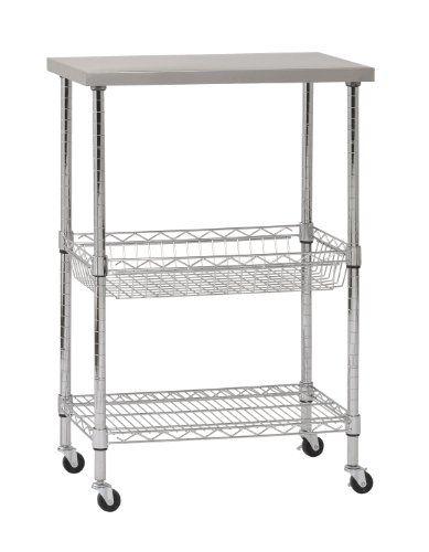 Sandusky MKTSS241440 Stainless Steel Top Wire Cart, 24
