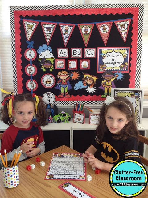 Are you planning a superheroes themed classroom or thematic unit? This blog post provides great decoration tips and ideas for the best superheroes theme yet! It has photos, ideas, supplies & printable classroom decor to will make set up easy and affordable. You can create a superheroes theme on a budget!