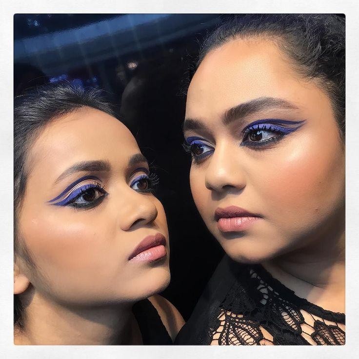 Graphic eyes!  Makeup by @bronzeblushbeauty  Model: @expressliving @numa_saikia90  #bangalore #bangaloreblogger #bangalorebloggers #bangaloremakeupartist #indian #indian #indianmakeup #indianblogger #indianmakeupartist #eyeliner #backstagemakeup #makeupbyme #like4like #likeforlike #likeforfollow #makeup #makeup2017 #wingedeyeliner #blueeyeliner #blueeyes #indianbeauty #LEARNWITHVANDANA