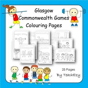 Commonwealth Games Colouring