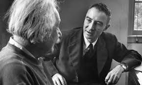 """Julius Robert Oppenheimer headed the Manhattan Project, responsible for developing the first atomic bomb. Considered the """"father of the bomb"""", he also made important contributions in the early stage of quantum mechanics and published one of the first theoretical models of a black hole. The atomic research also included scientists such as Ernest Rutherford in Cambridge, Niels Bohr in Copenhagen, Jacob Franck and Max Born in Göttingen, Marie Curie in Paris and Albert Einstein in Berlin"""
