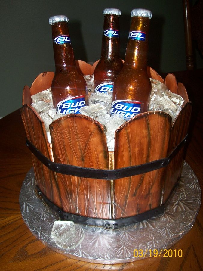 Cake Made Of Beer Cans Bucket Of Cold Beer Cake Beer