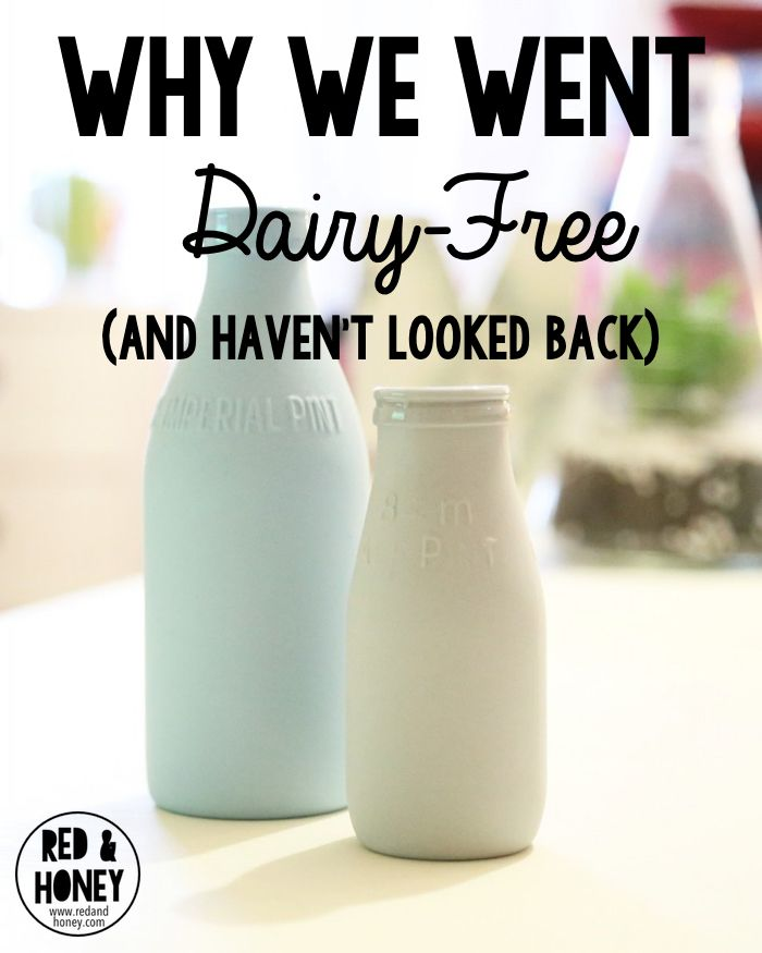 """This is so interesting, and thought-provoking. Dairy can be a huge trigger for people, without them realizing it (they think that the symptoms are just normal life.) """"Being dairy free is one of the best shifts we've implemented as a family.""""  Here is why..."""