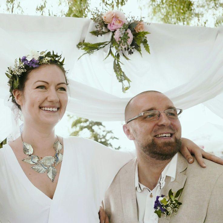 Under our wedding gates