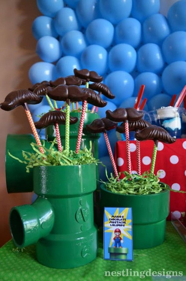 Super Mario Brothers Birthday Party #planning #ideas #decorations #cake #idea (18)