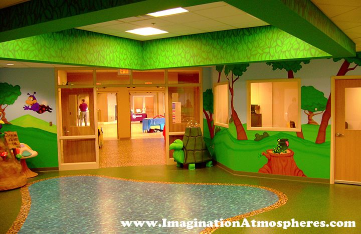 Church Preschool Center Murals and Themed Environments. www.ImaginationAtmospheres.com