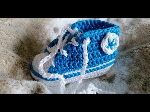 Sneakers para bebés - Tejer zapatillas de deporte – Parte 5/5 con subtítulos de BerlinCrochet - YouTube