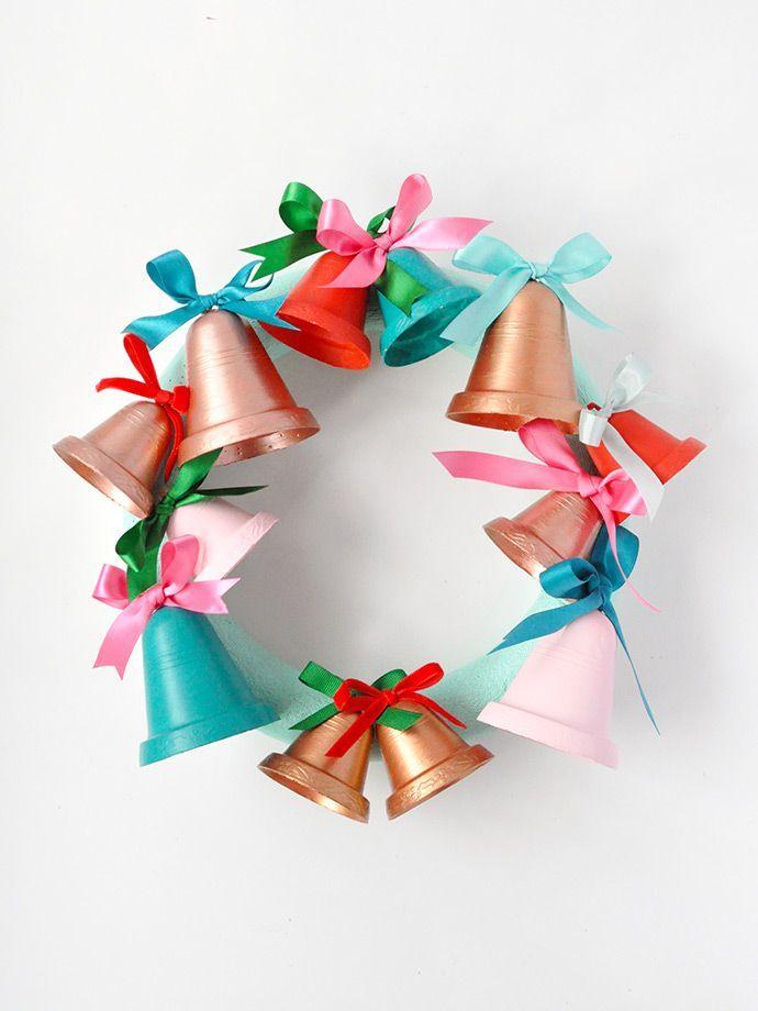 Painted Jingle Bell Wreath Jingle bells