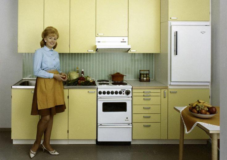 60-luvun keittiö: väriä ja kuvioita | Meillä kotona