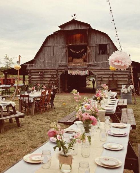 Barn Party....10th anniversary party idea