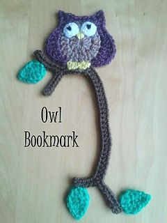 An owl bookmark to always know your place! Free on Ravelry!