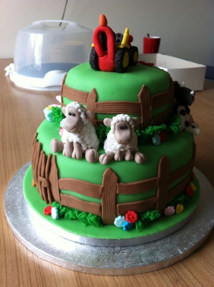 Tractor Tom Birthday Cake Cake Decorating Pinterest