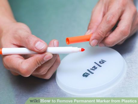 5 ways to remove permanent marker from plastic  ||Image titled Remove Permanent Marker from Plastics Step 1