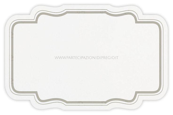 Letterpress wedding invitation - dimensione: 17 x 11 - forma: francesca - carta: Gmund Cotton - Max White - 300, 600, 900 gr. - linea: cornici Francesca - modello: cornice Francesca doppia distanza mm 5 spessore 1-6 pt - lavorazione press: cornici