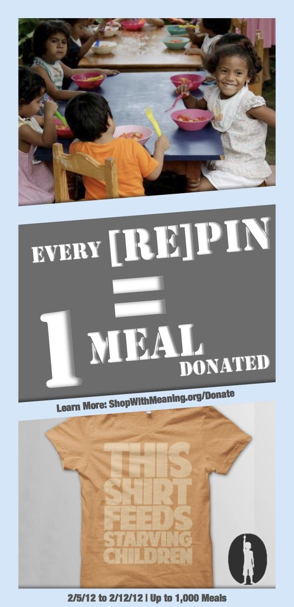 During the week of Feb 5, 2012, Feed Just One is partnering with Rice Bowls and Shop With Meaning to help to end hunger. This week, Feed Just One will donate a meal to Rice Bowls for every Shop With Meaning social media share on Twitter, Facebook, Google+ and Pinterest.