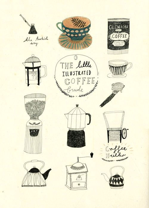 Tea and Coffee. - Katt Frank Illustration.