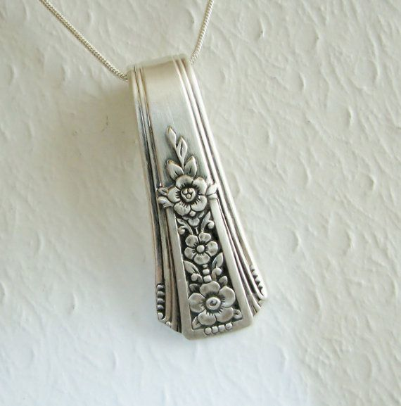 Vintage Spoon Necklace Spoon Pendant Fortune by SpoonfestJewelry, $20.00