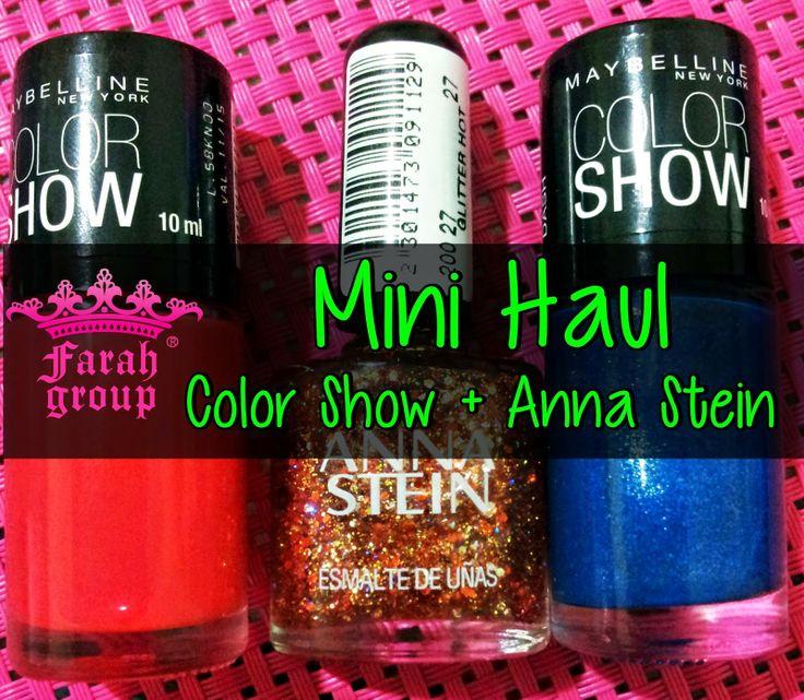 Nuevo Post en #FarahgroupBlog . Un mini #Haul de esmaltes @Maybelline NY Argentina #ColorShow y esmaltes #AnnaStein !  Imperdibles ! http://www.farahgroupmakeup.com/2014/06/esmaltes-maybelline-color-show-glitter.html