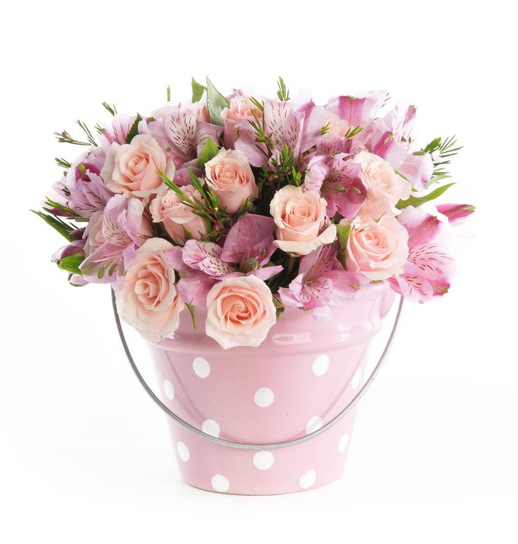 Arranjo de flores Alstroemérias e Rosas Spray