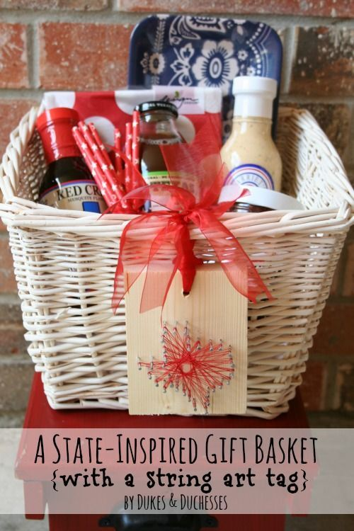 A State Inspired Gift Basket Great For As A Going Away Gift Or Fo A