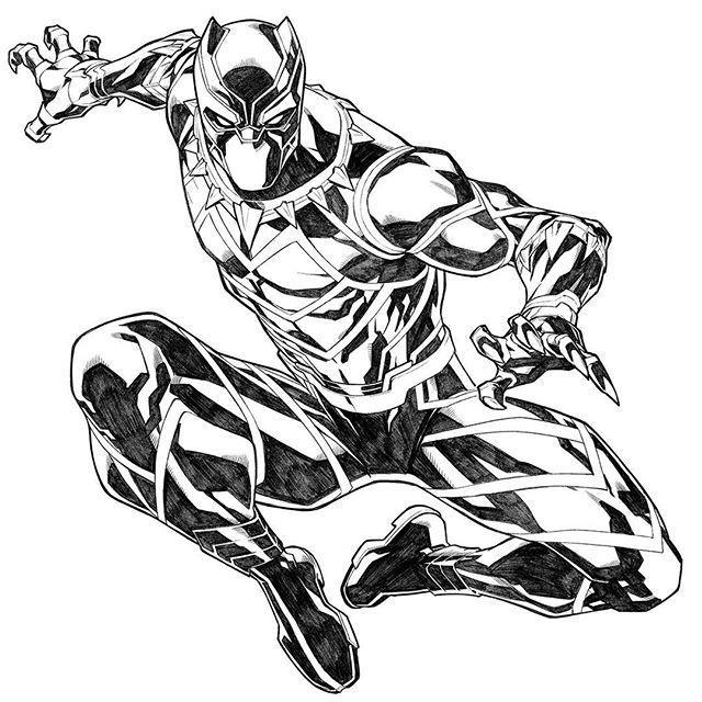 Image Result For Marvel Black Panther Coloring Pages Black