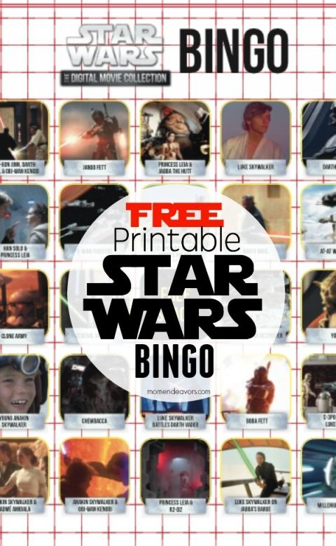 Free Printable Star Wars Bingo