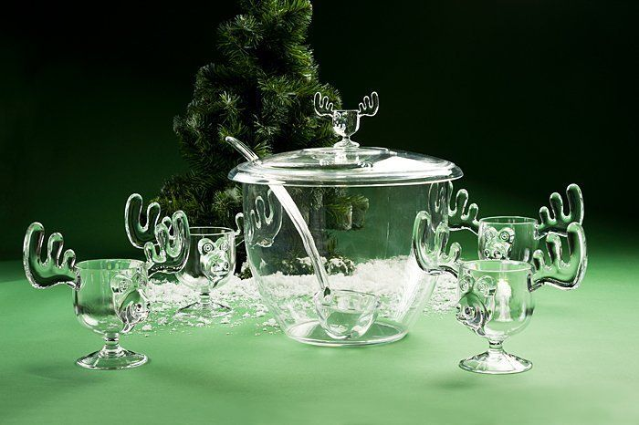 "This holiday season have a fun old fashion Family Christmas with our A&R Collectibles Moose Mug Punch Bowl Set.  Now you can serve eggnog to your ""Kith & Kin.""  Fun and safe for the whole family to use - young (and not so young)."