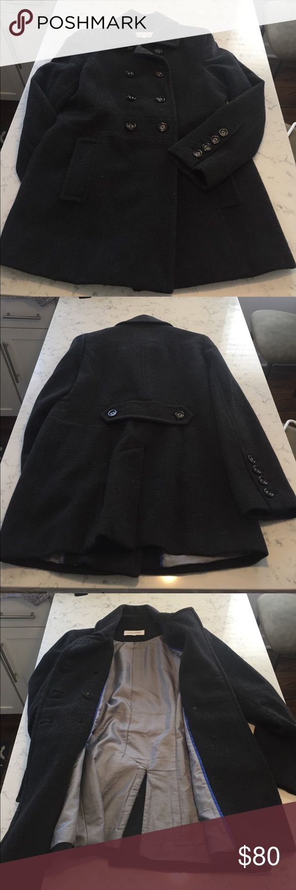 Calvin Klein Dark Gray Women's Peacoat W10 Classy Dark Gray Calvin Klein Peacoat. Warm and Fits Great! Perfect for wearing in the city or to holiday parties! Fall and Winter Use. Worn Twice. Size Women's 10. Calvin Klein Jackets & Coats Pea Coats