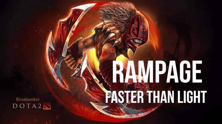 Dota 2 - Bloodseeker - Rampage - Faster Than Light - Butterfly - Blademail - Silver Edge-Manta Style