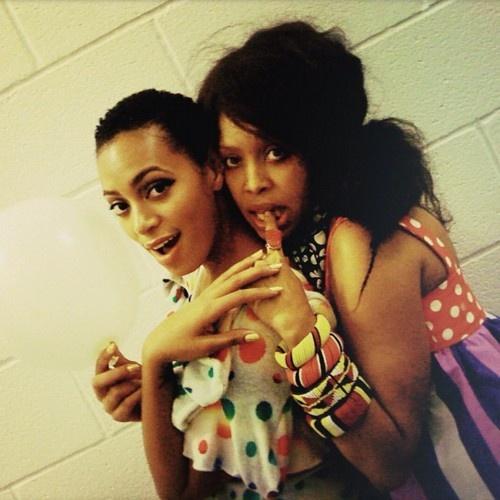"Solange + Erykah Badu  ~Two of my favorite music ladies. ""When we gon get that new album, SoSo?""~"