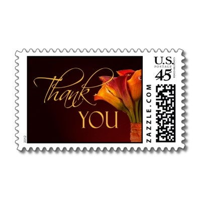 great lily thank you stamps, especially for an autumn wedding