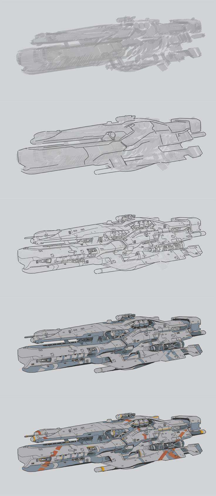 ArtStation - ship sketch, Yi Yang