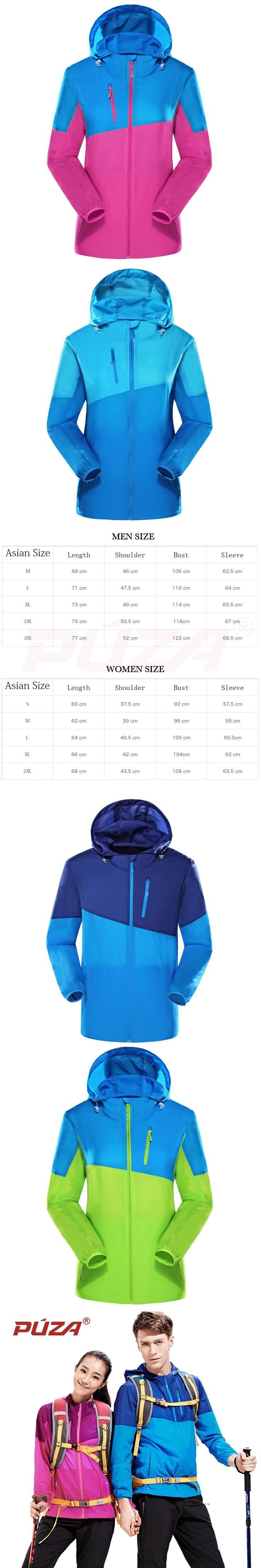 PUZA Brand 5 Color Best Selling Women Men Ultra-light Waterproof Jacket Quick-dry Clothes Skinsuit Outwear Plus Size S-XXXL