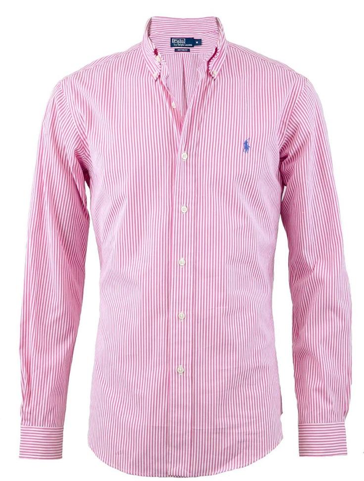 Ralph Lauren Custom Fit Stripe Shirt in PinkBoyfriends Style, Lauren Custom, Polo Ralph Lauren, Casual Shirts, Boyfriend Style, Custom Fit, Pink Stripes Lauren Shirts, Fit Stripes, Boys Crazy