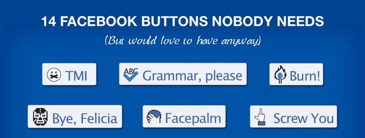 Facebook buttons nobody needs