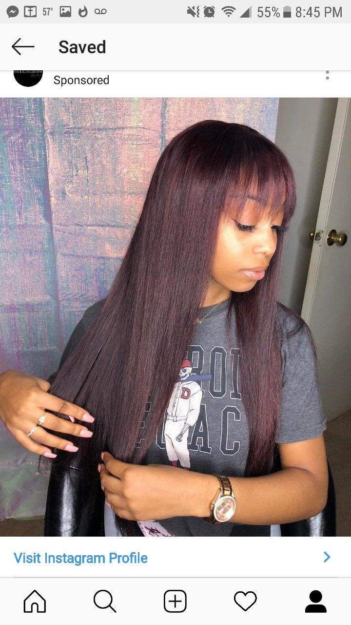 35++ Long sew in with bang trends