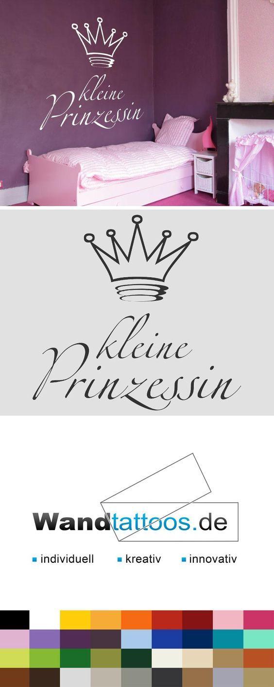Trend Wandtattoo Kleine Prinzessin Schrift mit Krone