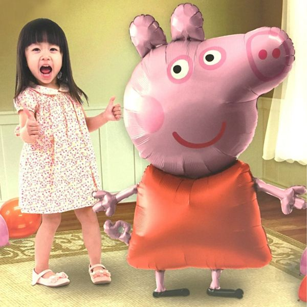 Globo Air Walker de Peppa Pig, se hincha con helio y parece que camina!! Tamaño XXXL #cumpleañospeppa #cumppleañospeppapig #peppapig #fiestapeppapig # fiestapeppa #cumpleaños # fiesta #globos