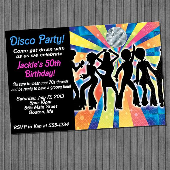 Retro 70 S Disco Fever Invitations Fiesta Fiestas