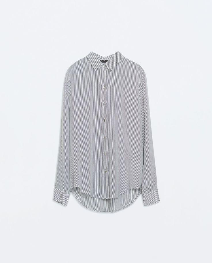 Striped silk shirt, Zara, 459 kr.