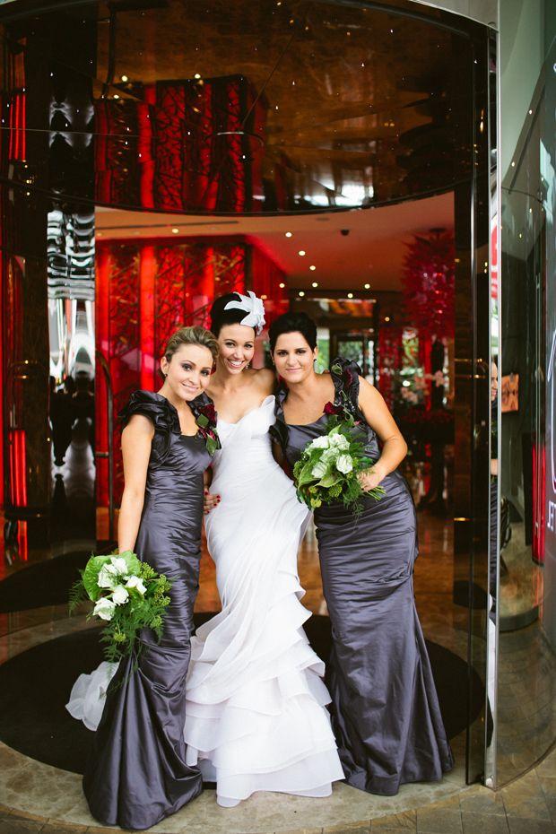 Queensland Brides: Real Life Wedding : Susan & Ben. #purple #bridesmaid