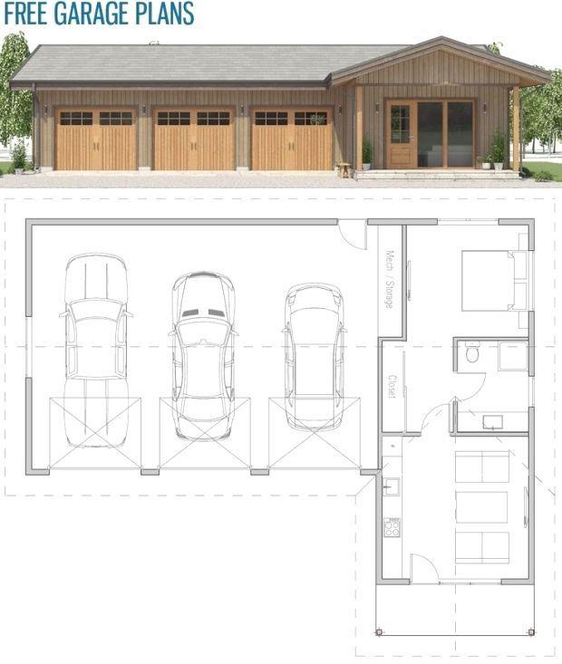 Plandemaison Maison Projedemaison Architecture Plan Maison Maison Projet Plan Garage Apartment Floor Plans Garage Guest House Garage Floor Plans