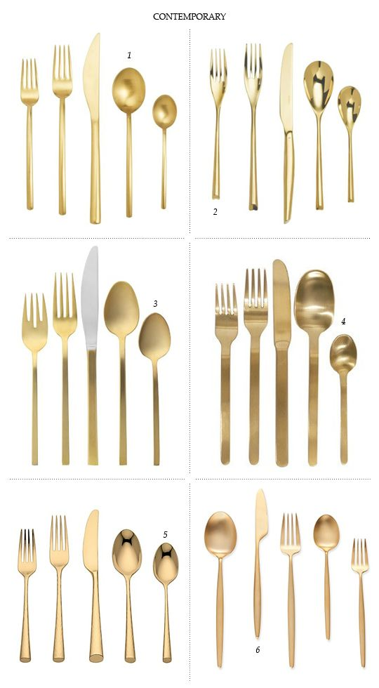 Gold Flatwear - Contemporary