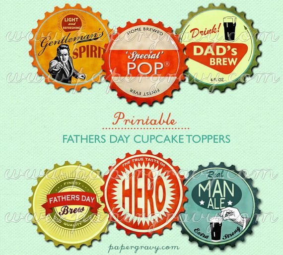 Cupcake topper printables for Father's day.