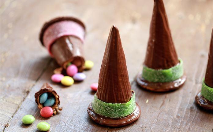 """""""Sombreros De Bruja Con Sorpresa Para Halloween"""" en Nestlé Cocina #recetas #nestlecocina #menuplanner #cocina"""