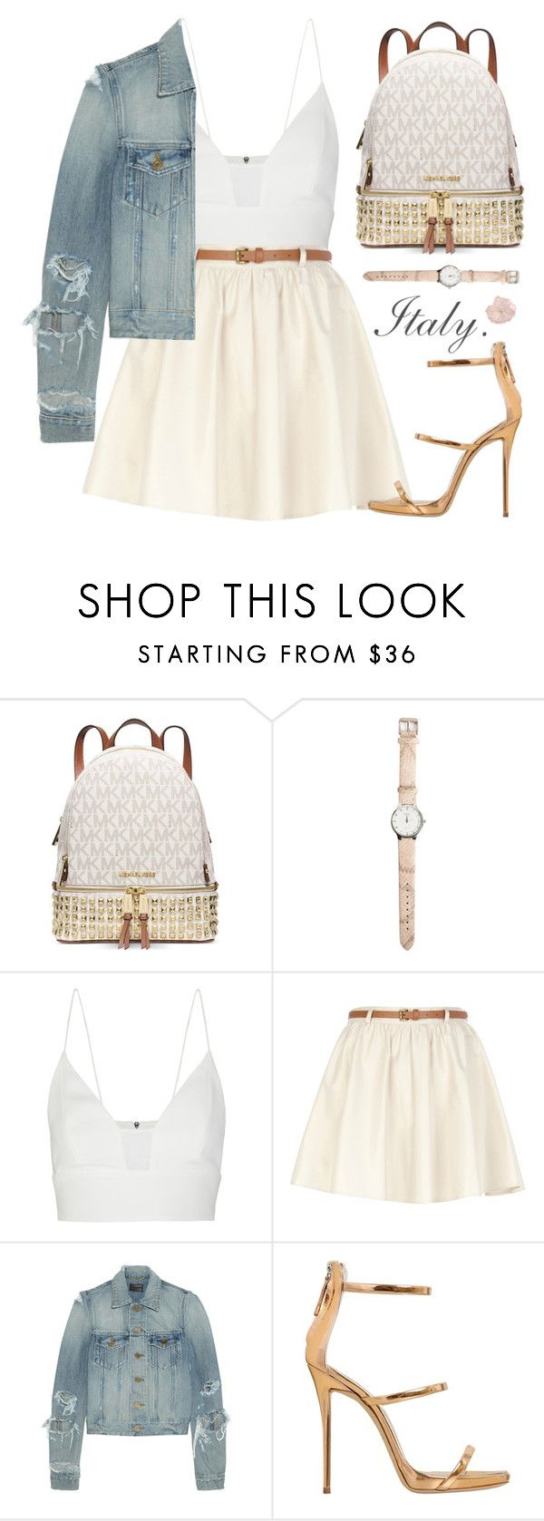 """""""♔Dream of Italy♛"""" by alexandra-provenzano ❤ liked on Polyvore featuring Michael Kors, Narciso Rodriguez, River Island, Yves Saint Laurent, Giuseppe Zanotti, women's clothing, women, female, woman and misses"""