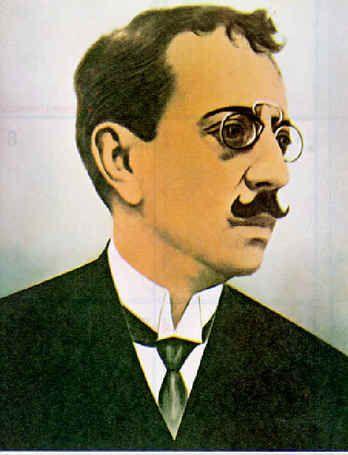 Olavo Bilac - Eleito Príncipe dos Poetas Brasileiros pela revista Fon-Fon em 1907, foi o grande representante do Parnasianismo no Brasil. Escreveu a letra do Hino à Bandeira. Foi membro-fundador da Academia Brasileira de Letras, em 1896.