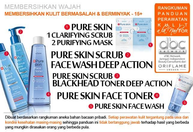 Pure Skin Clarifying Scrub + Pure Skin Purifying Mask | Pure Skin Scrub Face Wash Deep Action | Pure Skin Scrub Blackhead Toner Deep Action | Pure Skin Face Toner  | Pure Skin Face Wash  | #pembersih #wajah #kulit #bermasalah #15+ #tipsdBCN #Oriflame