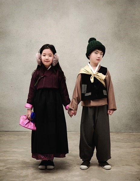 Modern traditional hanbok for kids