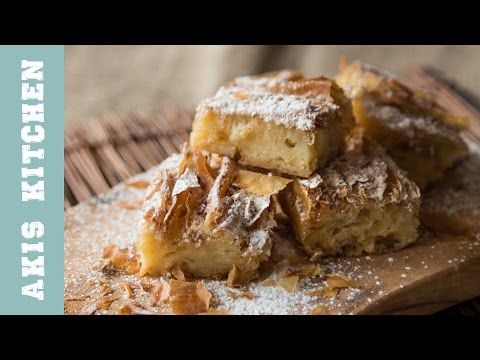 Custard Pie with a Phyllo Crust | Akis Petretzikis